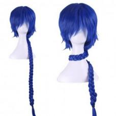 Парик косплей на Аладдина  синий с косой 80 см