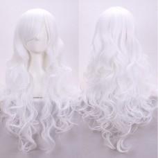 Парик косплей белый длинный волнистый 80 см