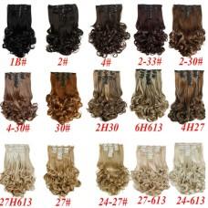 8 прядей из вьющихся искусственных волос на 15 заколках