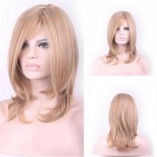Парик блондин средний вьющийся 40 см